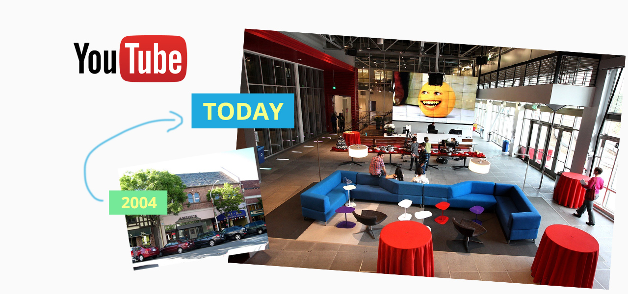 The original office of Youtube was nothing like their offices today