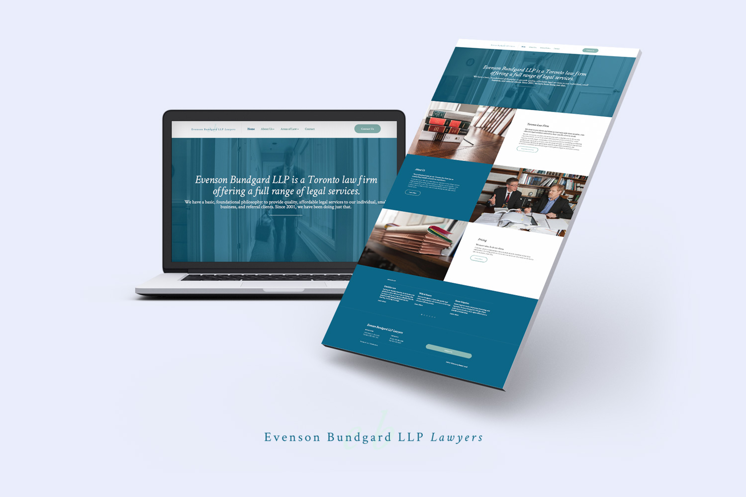 Modern law firm website designer in Toronto