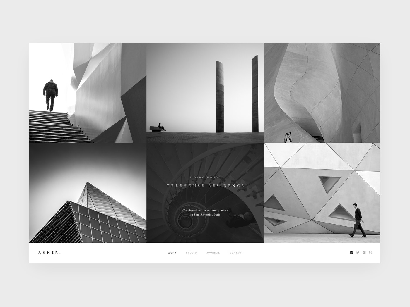 beautiful website design for architects
