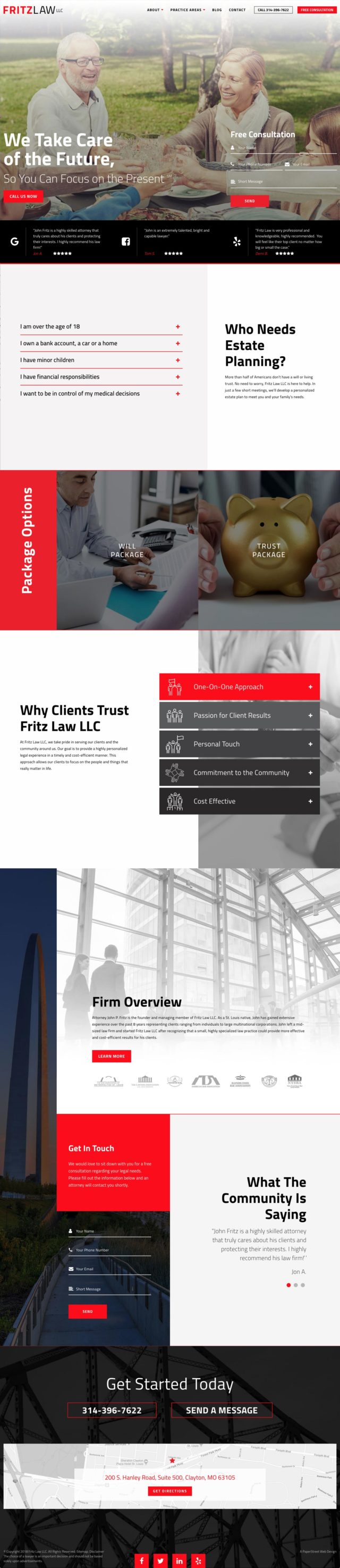 Fritz Law LLC Lawyer Website Screenshot