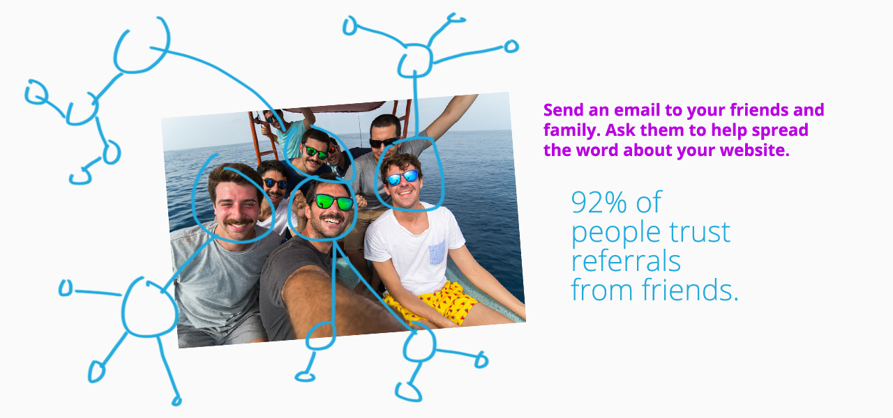 Drive more traffic to your site by emailing friends and family