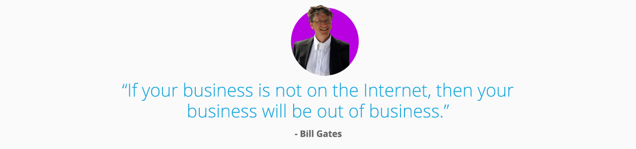 If you're going to do one thing today to help your business be more successful, it's to make getting a website your top priority. It's easy to be a better business. Get a website.