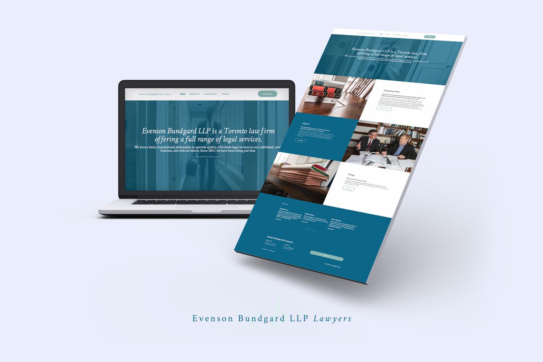 Modern law firm website designer in Toronto