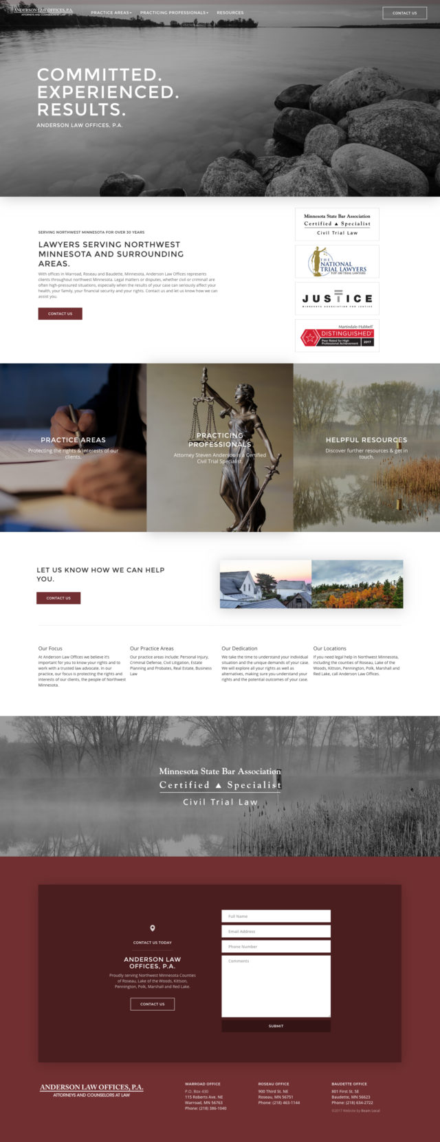 Are These The Best Lawyer Website Designs For 2018 Beam Local
