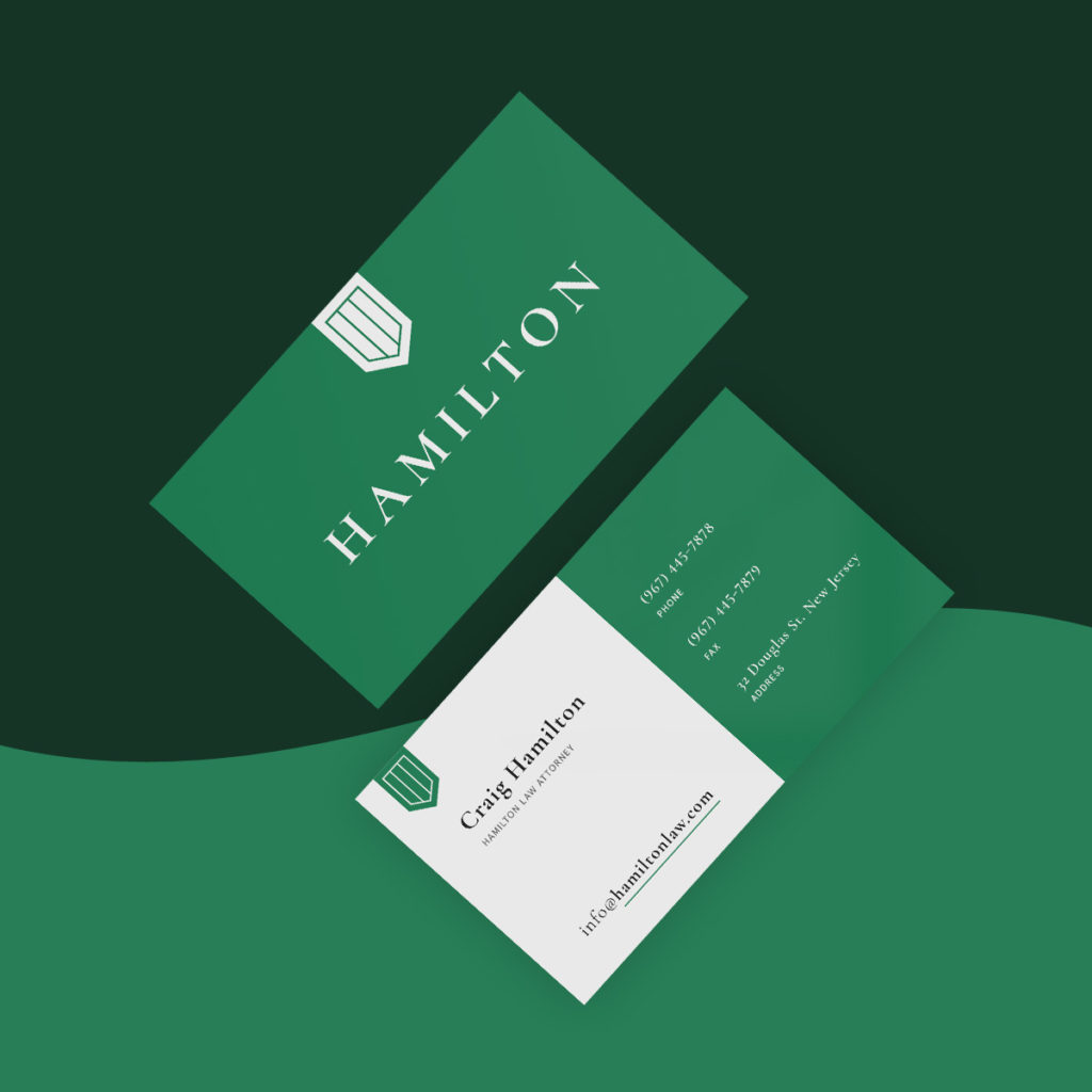 custom lawyer business card front and back